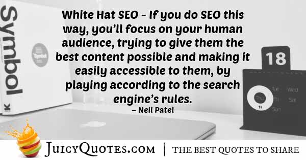 White Hat SEO Quote
