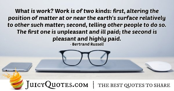 What is Work Quote