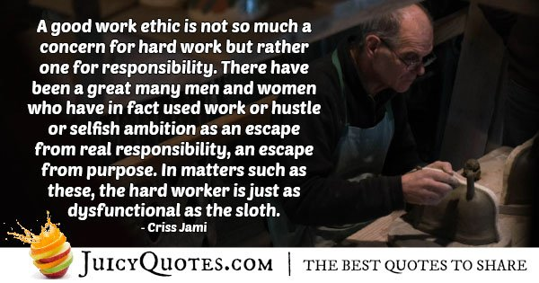 Good Work Ethic Quote