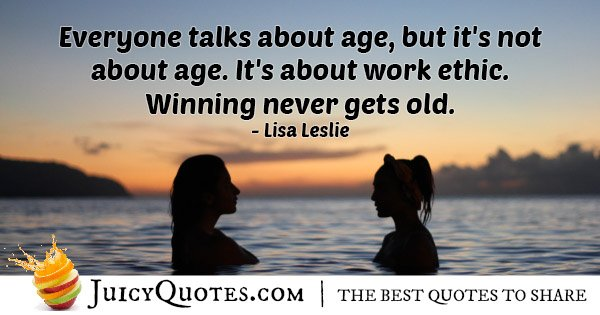 Work Ethic and Winning Quote