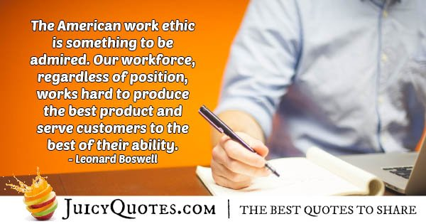 American Work Ethic Quote