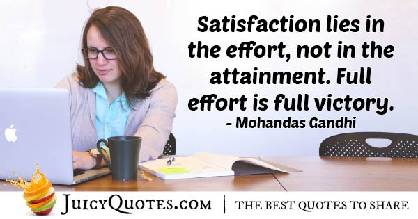 Satisfaction and Attainment Quote