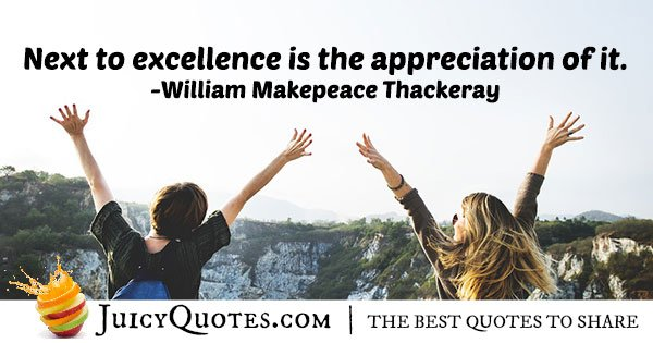 Excellence and Appreciation Quote