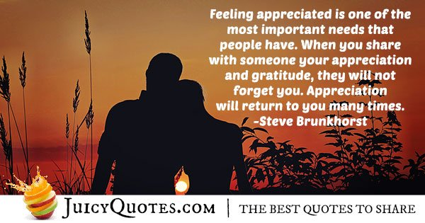 Feeling Appreciated Quote