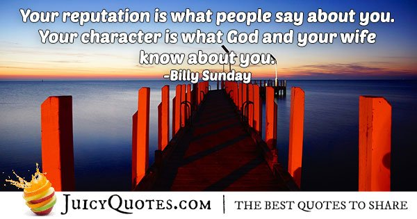 Reputation and Character Quote