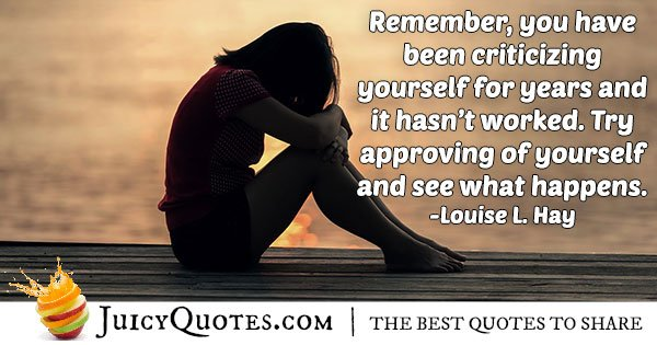 Be Approving of Yourself