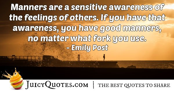 Awareness of Manners Quote