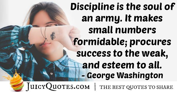 Discipline Army Quote