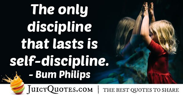 Self - Discipline Quote