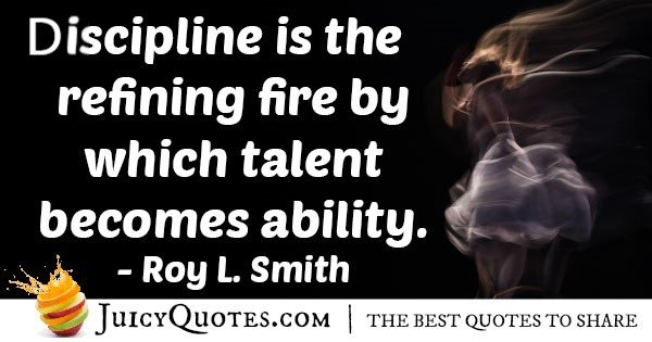 Discipline And Ability Quote