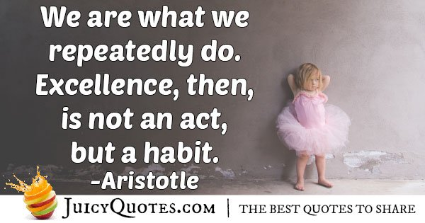 Discipline Becomes a Habit Quote