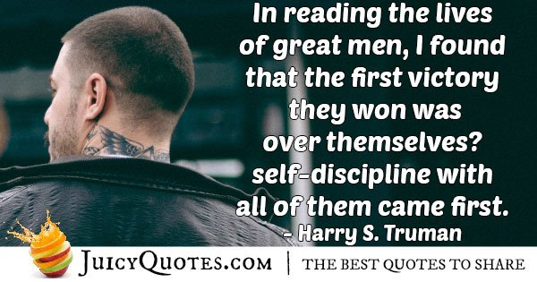 Discipline Over Self Quote
