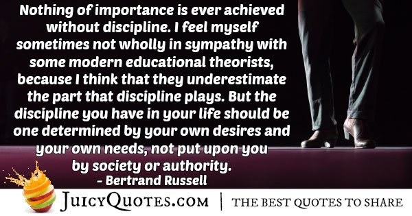 Importance and Discipline Quote