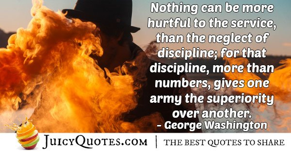 Neglect of Discipline Quote