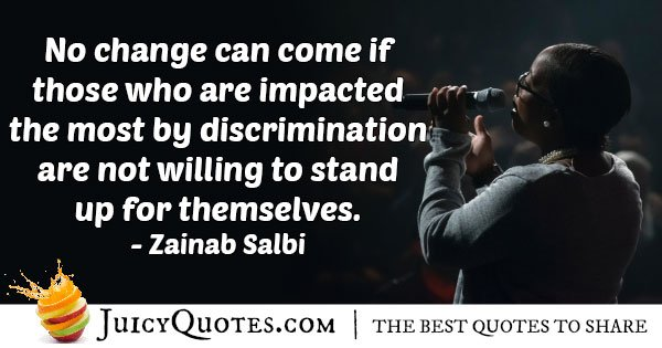 Stand Up Against Discrimination Quote
