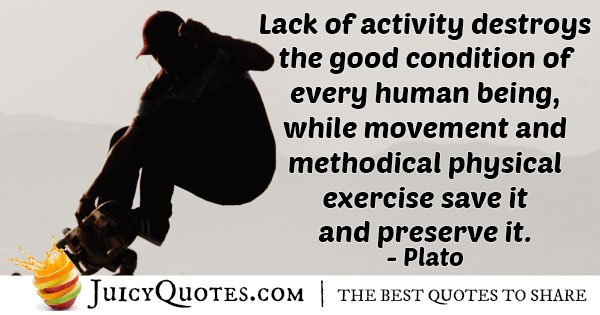 Lack of Activity Quote
