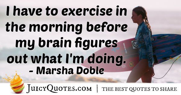 Exercise In Morning Quote