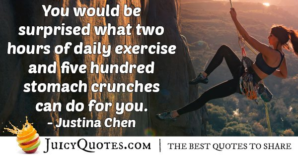 Two Hours Exercise Quote