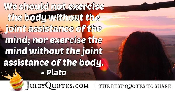 The Mind and Exercise Quote