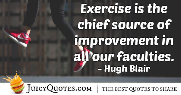 Exercise and Faculties Quote