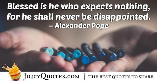 Expecting Nothing Quote