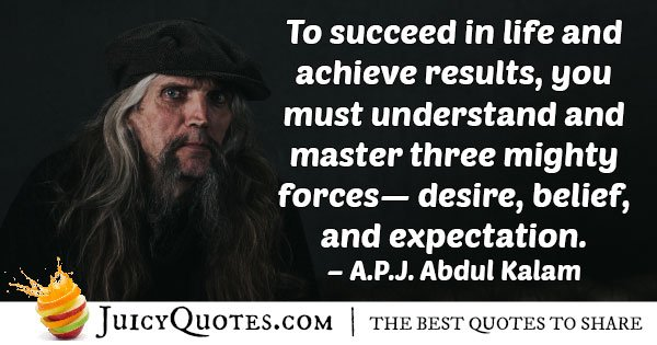 Desire, Believe and Expectation Quote