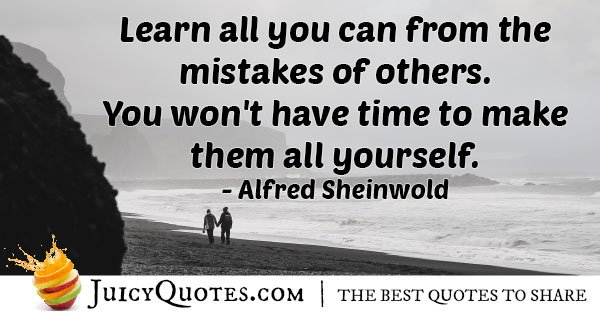 Learn From Mistakes of Others Quote