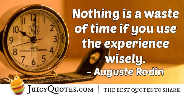 Using Experience Wisely Quote