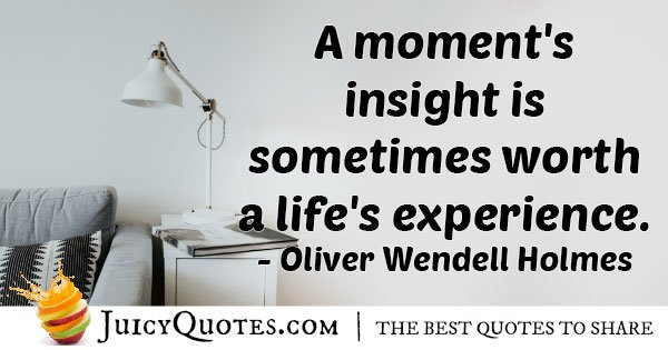 Insight VS Experience Quote