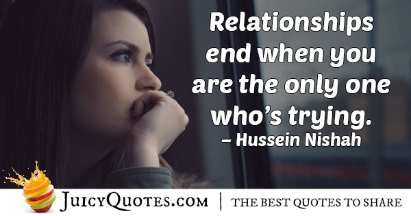 Giving Up Relationships Quote