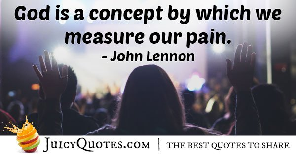 God to Measure Pain Quote