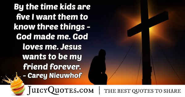 Kids to Know God Quote