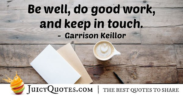 Keep in Touch Quote