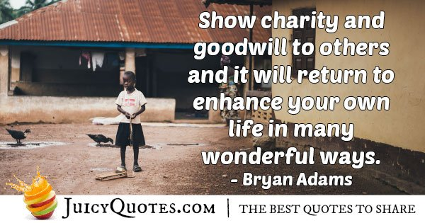 Charity and Goodwill Quote