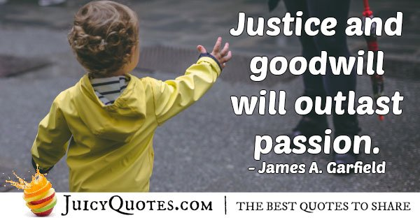 Justice and Goodwill Quote