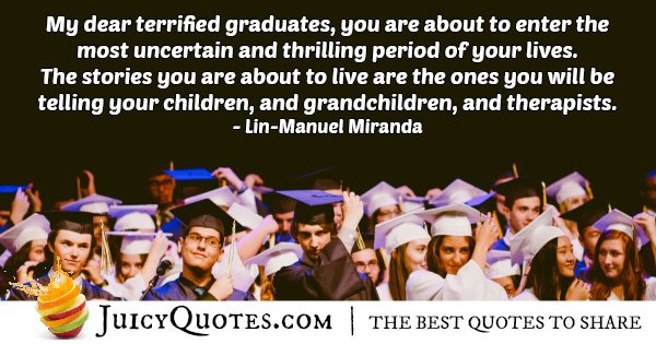 Graduation is Terrifying Quote