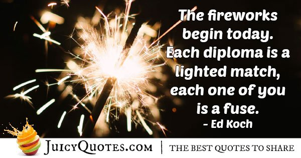 Fireworks Graduation Quote