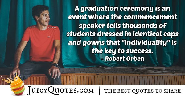 Individuality Graduation Quote