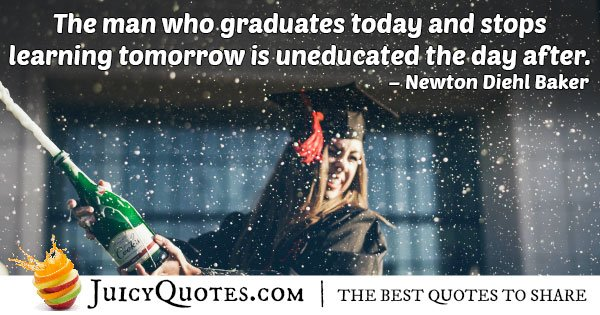 Graduates Today Quote