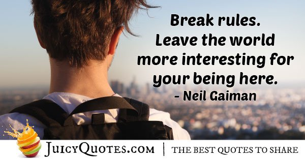 Break Rules Quote