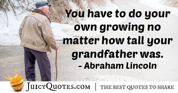 Tall Grandfather Quote