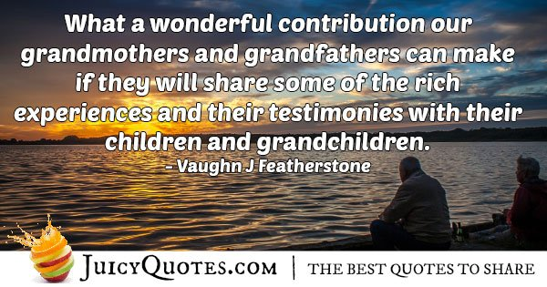 Grandparents Experiences Quote