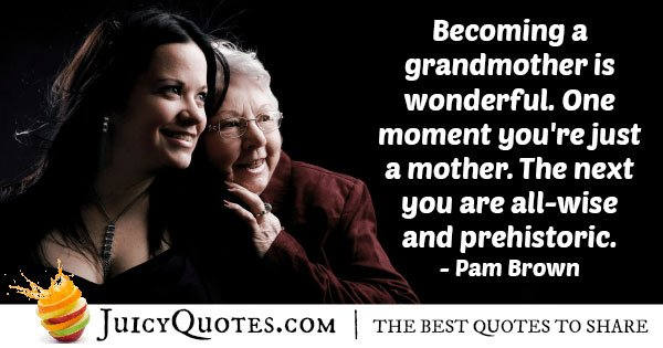 Wonderful to be a Grandparents Quote
