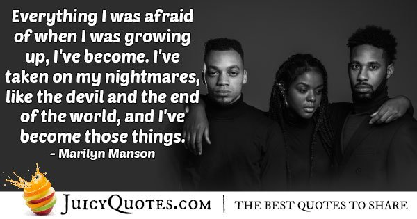 Becoming Your Fears Quote