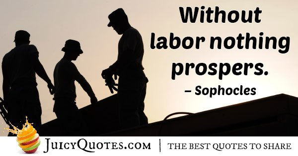 Hard Work to Prosper Quote