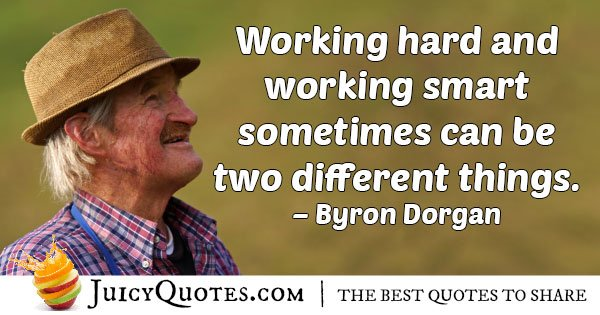 Hard Work and Smart Quote