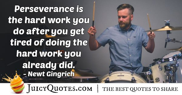 Perseverance Hard Work Quote