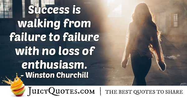 Hard Work and Enthusiasm Quote