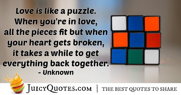 Heartbreak Puzzle Quote