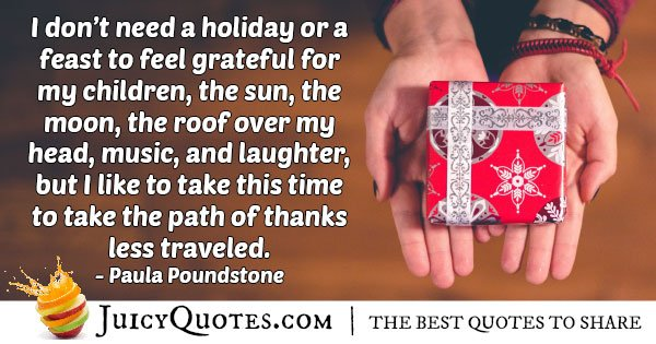Holiday of Thanks Quote